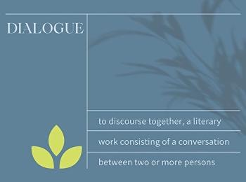 สานเสวนา (pertaining the dialogue)